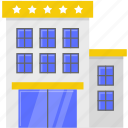 building, business, hotel, tour icon