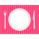 plate, restaurant, hotel, dish, table, knife, kitchen