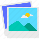 cloud, mountain, photo, sun, tour, vacation icon