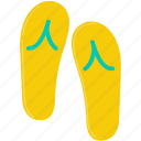 flip-flop, shoes, summer icon