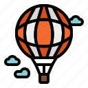 air, balloon, flight, fly, hot, transport, travel icon