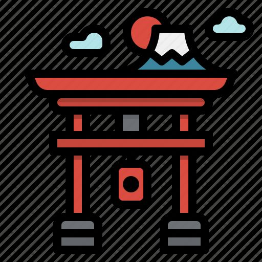 asia, building, gate, japan, landmark, monument, torii icon