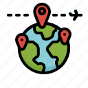 destination, gps, location, map, planet, travel, worldwide icon