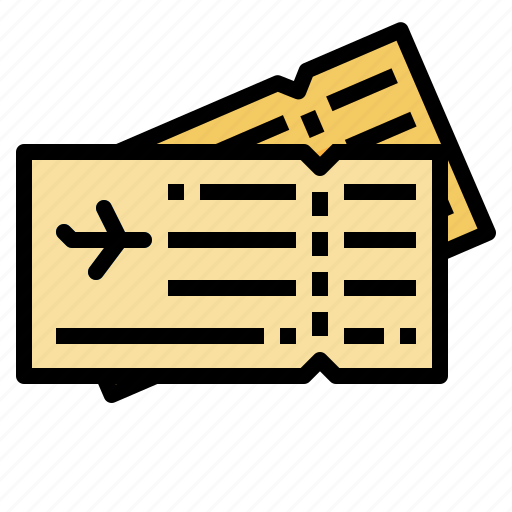 air, airplane, flight, plane, ticket, travel icon
