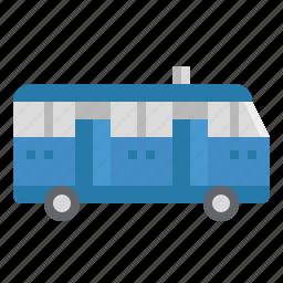 automobile, bus, public, school, transport, vehicle icon