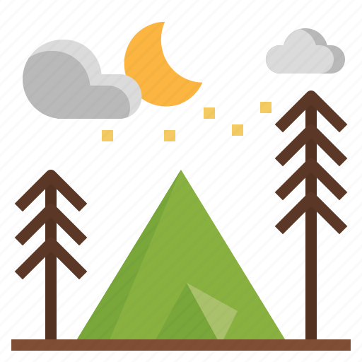 camping, holidays, miscellaneous, tent, tools, travel icon