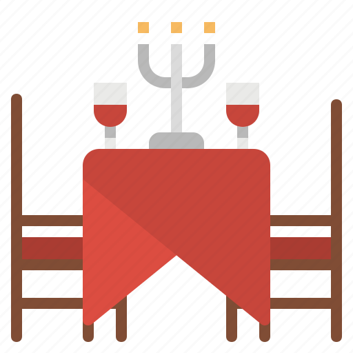 chairs, dinner, furniture, household, restaurant, room, table icon