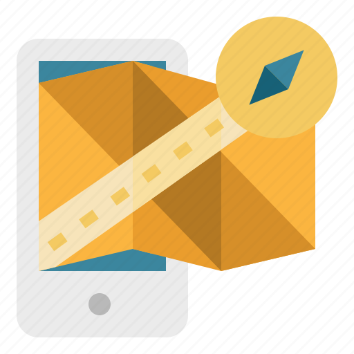 gps, location, maps, navigation, phone, smartphone icon