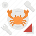 beach, crab, dinner, food, sea, seafood icon