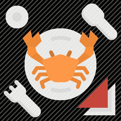 beach, crab, dinner, food, sea, seafood icon