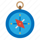 compass, gps, navigation, travel icon