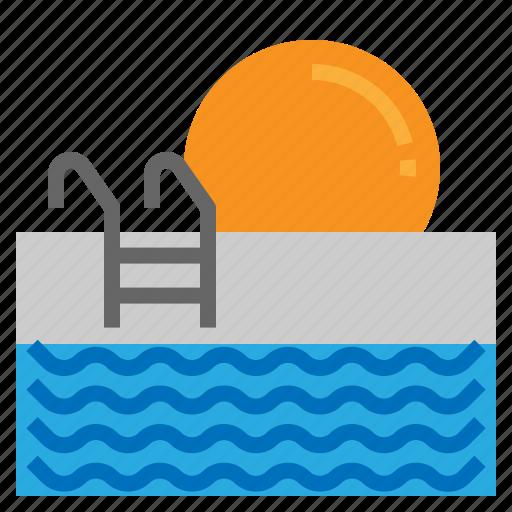 pool, summer, swim, swimming icon