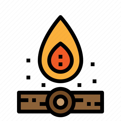 bonfire, camping, fire, flame icon