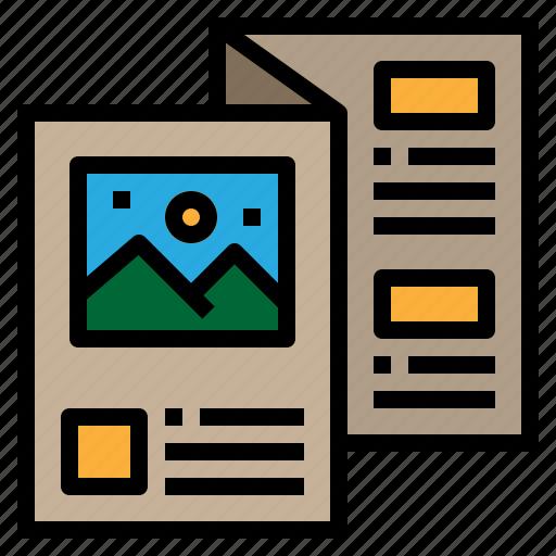 advertising, brochure, design, flyer icon