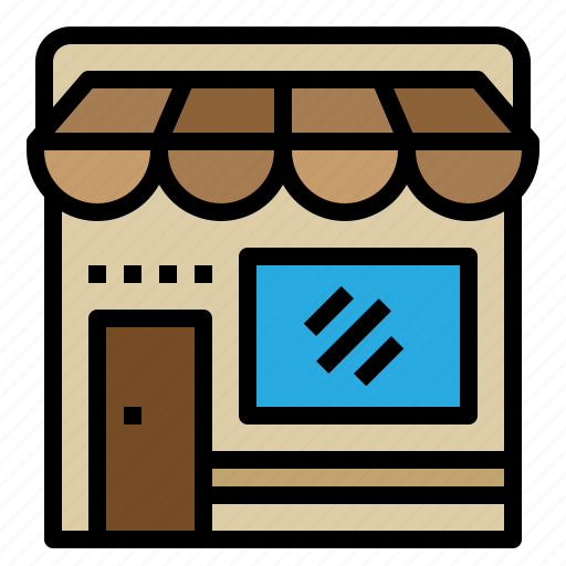 building, cafe, restaurant, shop icon