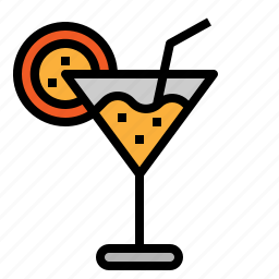 alcohol, cocktail, glass, summer icon