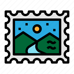 post, postage, stamp, travel icon