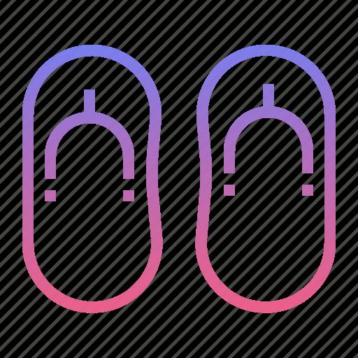 flip, flops, footwear, travel icon