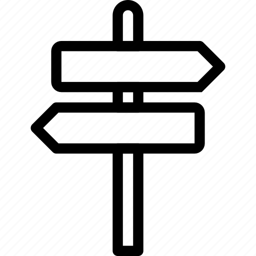 direction, road, sign, street, traffic icon