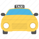 car, destination, road, taxi, travelling icon
