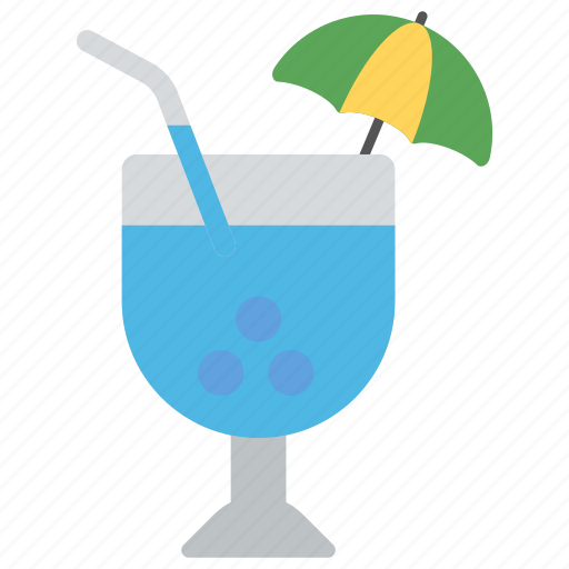 beach drink, beverage., cocktail umbrella, glass of cocktail, refreshing drink icon