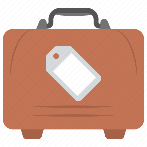 airport baggage, locked suitcase, luggage tag, luggage to travel, suitcase. icon