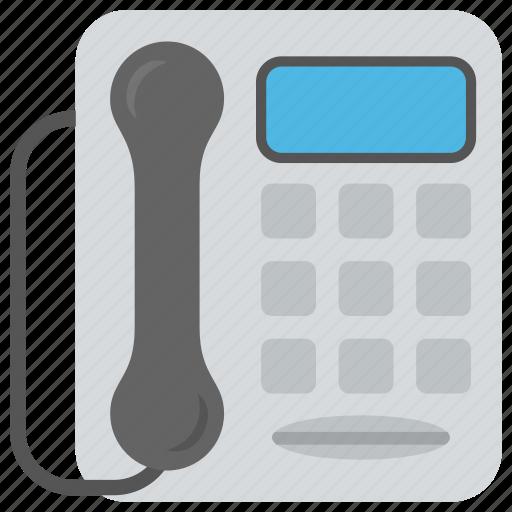 communication, fixed-line, handset, landline, telephone icon