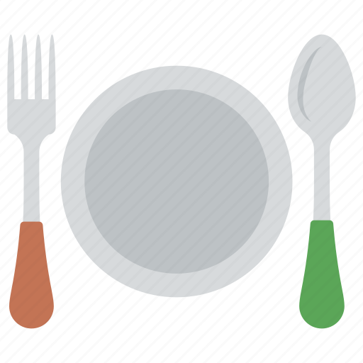 breakfast, delicious food, holiday brunch, restaurant, table cutlery icon