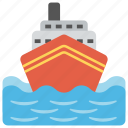 cruise, sea sightseeing, transportation, travelling in ocean, water craft icon