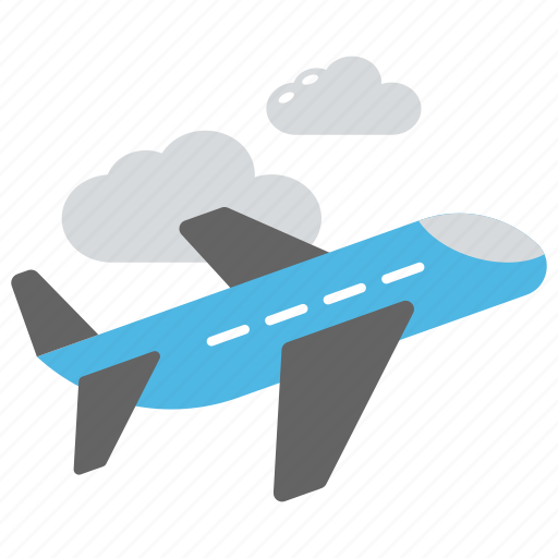 air travel, aircraft, flight, travel via airplane, vacation icon