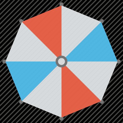 beach prop, beach umbrella, protective shield, summer shade, sunshade umbrella icon