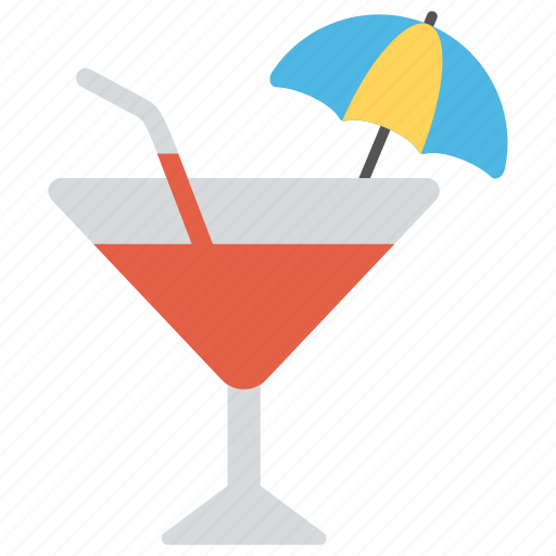 beach beverage, beer cocktail, cocktail, martini glass, summer cocktail icon