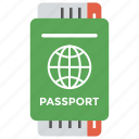 business travel, green passport, international travel, overseas vacation, visa to travel icon