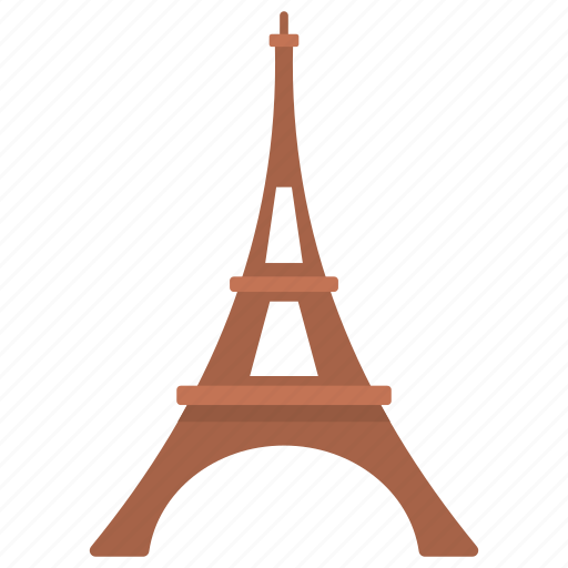 eiffel tower, honeymoon travel, landmark, love symbol, tour to france icon