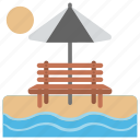 beach fun, nature glance, relaxing, sea sight, seashore icon