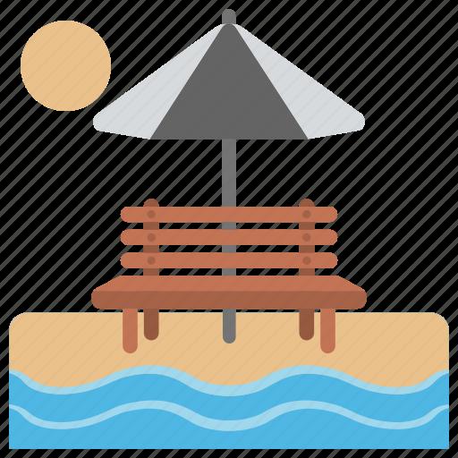 beach fun, nature glance, relaxing, sea sight, seashore icon