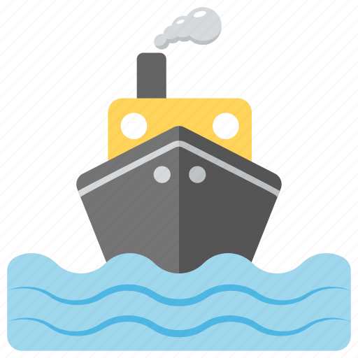 sea sightseeing, ship, transportation, travelling in ocean, water craft icon
