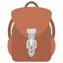 backpack, easy carriage, luggage, rucksack., sack bag icon