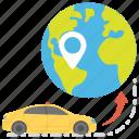 finding location, gps, international travel, navigating car, travel through map