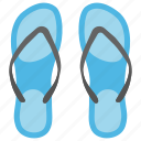 beach footwear, flip flops, house slippers, pair of beachwear, slippers icon