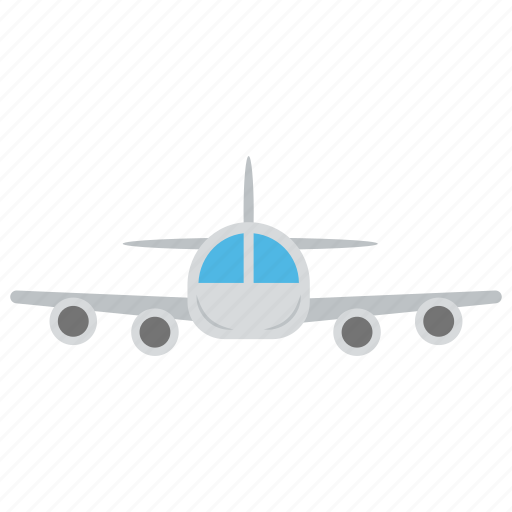 aeroplane arrival, air jet, aircraft, airplane departure, travel via plane icon