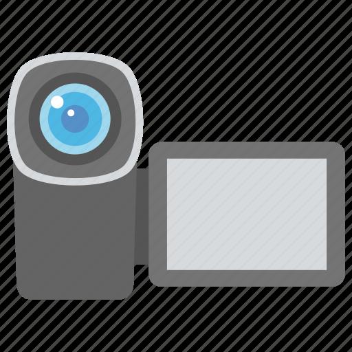 camcorder, handycam, record moments, save memories, video camera icon