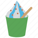 cup of ice cream, dessert, frozen yogurt, party food, refreshing food icon