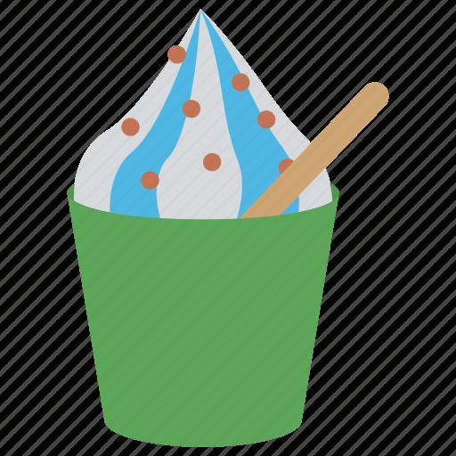 cup of ice cream, dessert, frozen yogurt, party food, refreshing food icon