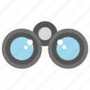 binoculars, spyglass, travel gadget, view distant objects icon