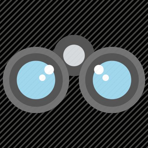 binoculars, spyglass, travel gadget, view distant objects icon