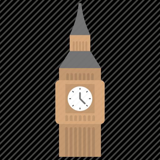 big ben, clock tower, landmark, monument, tower building icon