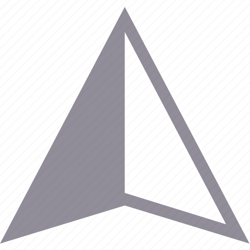 arrow, pointer, triangle, up icon
