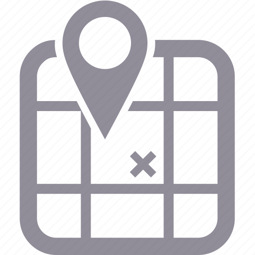 map, navigation, pointer, travel icon