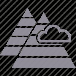 cloud, landscape, mountain, nature icon